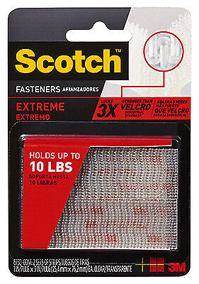 3M COMPANY - Extreme Fasteners Recloseable  Strip, Clear,  1 x 3-In., 2-Pr.