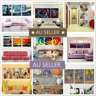 Set of Three Painting By Numbers Kit 3*50*40cm Home Decor F3P019028 DIY AU