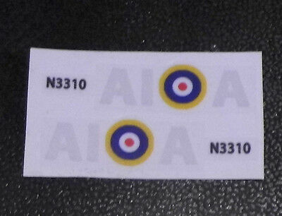 Dinky spitfire 719 authentic style squadron markings. (AIA)