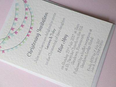 10 x Personalised Christening Invites Postcards