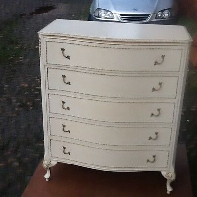 french style louis cream serpentine chest