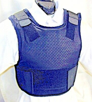 Large IIIA Concealable Body Armor Carrier Bullet Proof Vest Kevlar Inserts