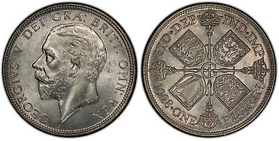 GR. BRITAIN George V. 1928 AR Florin, Two Shillings. PCGS MS64. KM834; SCBC-4038