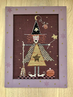 """Little Witch"" Framed Embroidery 23.5cm Wide x 30.5 cm High"