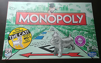 NEW Monopoly Board Game Featuring New Token Cat! SEALED!