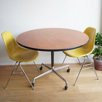 Mid Century Vintage Herman Miller Eames Round Dining Table