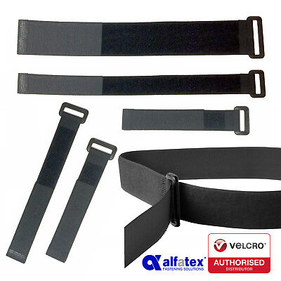Alfatex® by Velcro Companies Hook & Loop Ring Straps Cable Ties with Buckle