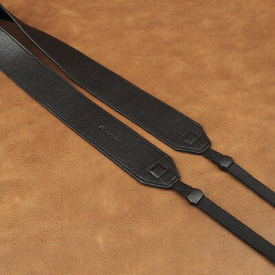 Wide Black Leather Adjustable Cam-in DSLR Camera Strap CAM2230 UK Stock