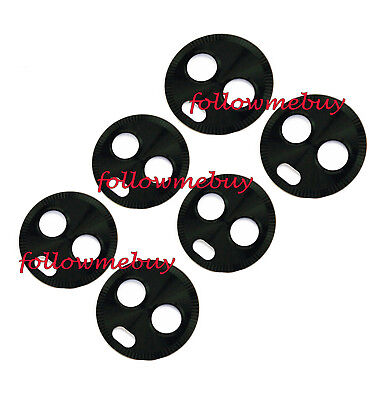 6pcs*Rear Camera Glass Lens Cover For Motorola Moto X4 XT1900-02 XT1900-04 Black