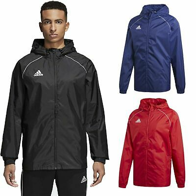 Adidas Boys Waterproof Jacket Kids Water Resistant Hooded School Rain Coat