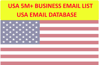 US 5M+ Business Email LIST - United States Emails Database, US Mailing Lists 5M