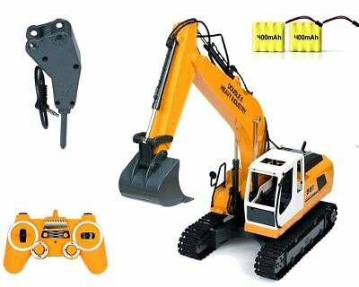 RC Excavator Tractor Toy Construction Vehicles 17 Channel Truck Metal Shovel USA