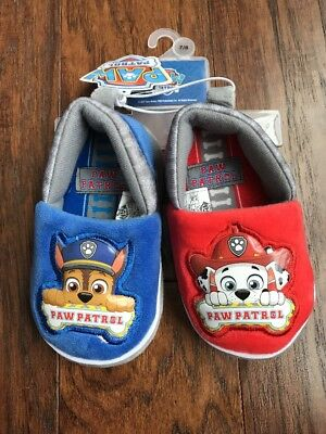 NEW Toddler Boys Paw Patrol Slippers Size 5/6 or 7/8
