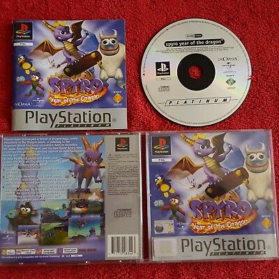 Spyro Year Of The Dragon  Platinum Version Sony Playstation Ps1 Ps2 Pal