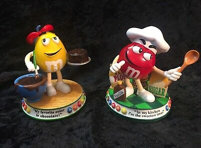 "2 Danbury Mint M&M's SWEET TREATS COLLECTION Figurine ""Sweet Temptation"" and...."