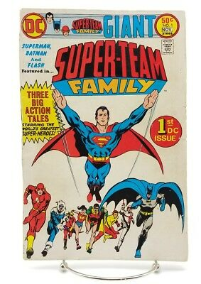 Super-Team Family #1 November 1975 DC Comics Superman Batman Justice League
