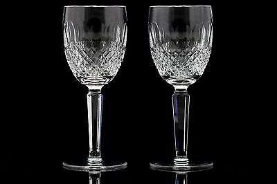 2 Waterford Crystal Colleen Claret Wine Glasses Tall Stem