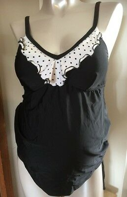 Ilant Maternity Swimwear - tankini two piece size 12 - polka dot