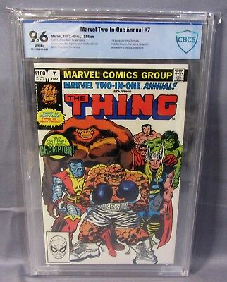 MARVEL TWO-IN-ONE Annual #7 (Infinity Power Gem 1st app) CBCS 9.6 1982 cgc Thing