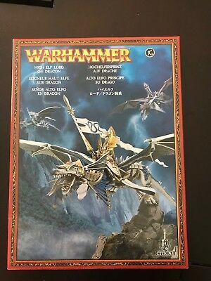 Warhammer: High Elf Lord on Dragon Miniature NEW unsealed