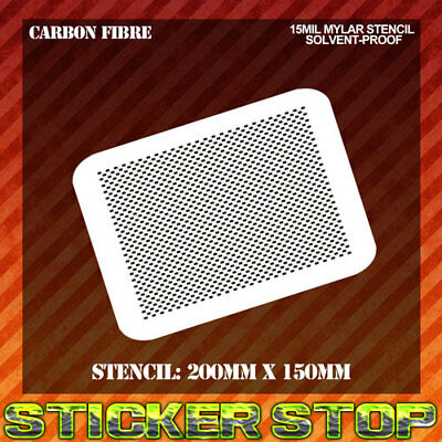 CARBON FIBRE MYLAR STENCIL (Airbrush, Craft, Texture, Re-usable)