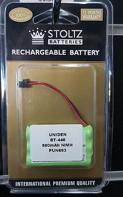 Brand NEW Replacement Cordless Phone Battery For Uniden BT-446 800mAh NiMH