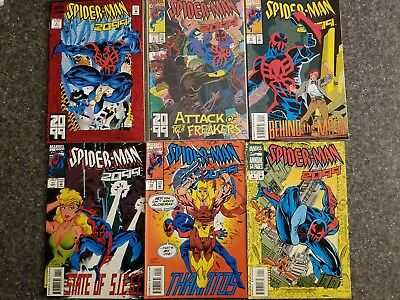 Spider-Man 2099 (1992) lot:  #1, 8, 10, 11, 12, Annual #1
