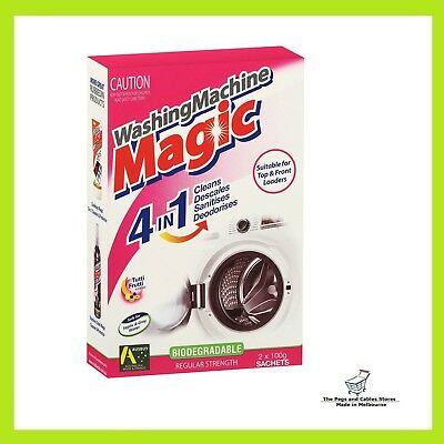 Rubbedin Magic Top & Front Loader Washing Machine Cleaner 2x100g