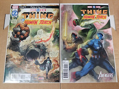 Marvel 2 In One The Thing & the Human Torch #2+ Dell'otto Variant NM 2 Cover Set