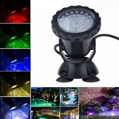 Pool Light IP68 RGB 36 LED Underwater Spotlight Lamps 3.5W Aquarium Fish Tank