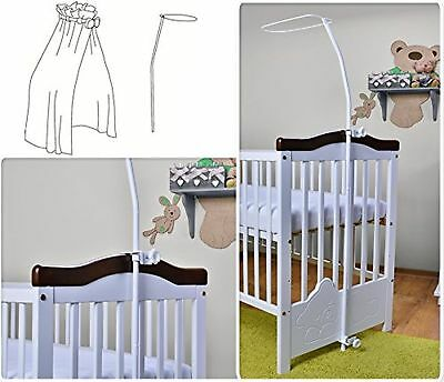 Universal Canopy Drape Holder For Baby Cot Bed - Practical Cotbed Mosquito Ne...