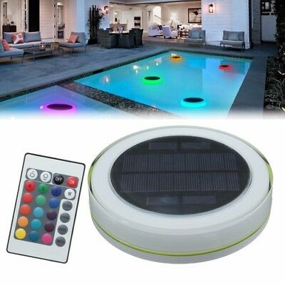 Pool Light Floating Decorative LED Remote Control RGB Solar Power IP68 PC+ABS
