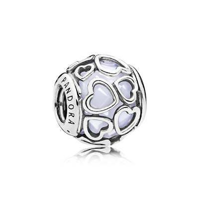 NEW!! Authentic Pandora Silver Sterling Encased In Love Opalescent 792036NOW