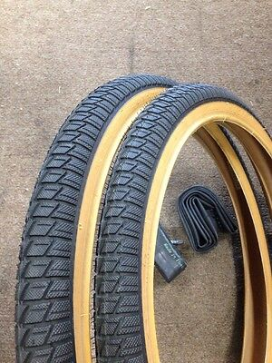 20x1.75 Whitewall Bicycle Tires 2xTires/&Tubes