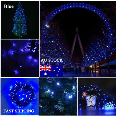 250 LED 50M Blue Fairy Christmas Wedding Garden Lawn String Lights Party Outdoor