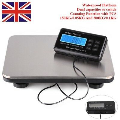 HEAVY DUTY DIGITAL 300kg Industrial Commercial Parcel Scales Weighing Pallet UK