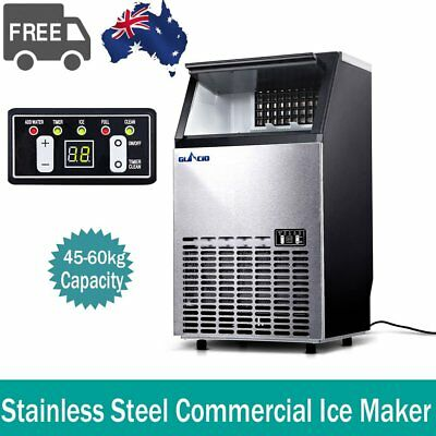Commercial ICE Cube Maker Machine Home Business Fast Easy Auto 45~60KG/Day 400W