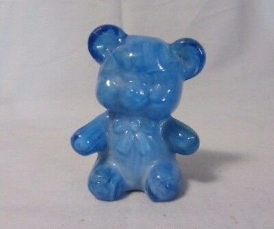"Boyd Glass Fuzzy Millennium Surprise Teddy Bear 3"" High Figurine 3/13/00"