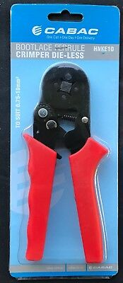 Brand New Cabac HNKE10 bootlace ferrule die-less crimpers 0.75mm - 10mm