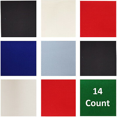 Aida 14 Count - Binca 6 Count - CrossStitch  18 Colours UK Supplier Cross Stitch