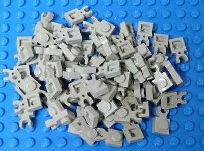 LEGO Plate, Modified 1 x 1 with Clip Vertical - Type 3 thick U clip Gray  x70PC