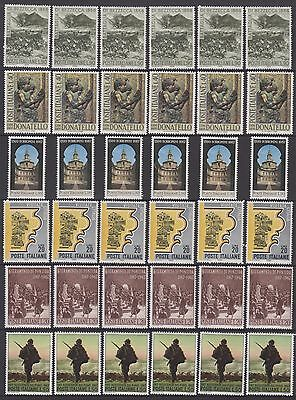 Italy - 80 MUH Stamps (3 pages)