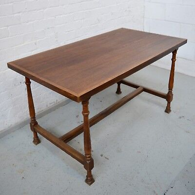 6 Seater Antique Refectory Style French Oak Dining Table Rustic Farmhouse