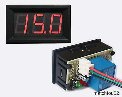 """0.56"""" red LED digital voltage timing delay relay control panel meter"""