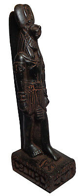 "Egyptian Anubis Bastet Pharaoh Figurine Statue Ancient Hand Made 5.5"" Sculpture"