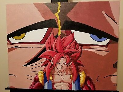 Dragon Ball Z/Gt/Super paintings done with acrylic paint.
