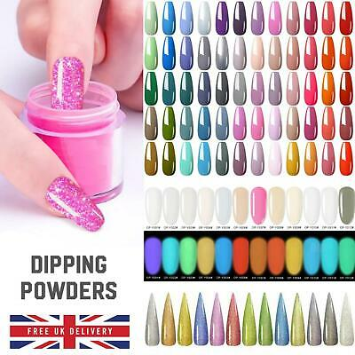 55 COLOUR ACRYLIC Nail DIPPING POWDER 5 or 10 gram POT Clear Pink Dust UK SELLER