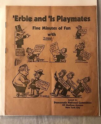 'Erbie And 'Is Playmates Orginal Comic By Democratic National Committee