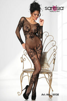 SEXY CATSUIT Body Stocking Crotchless With Design Open Crotch Gothic Lingerie