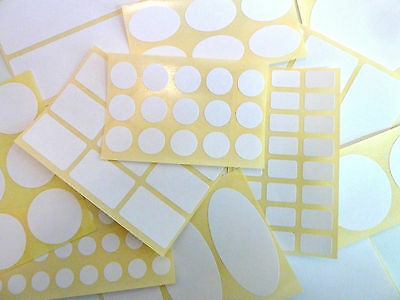 White Paper Labels Permanent Adhesive Stickers Plain Multi Purpose Sticky Labels